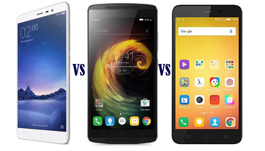Xiaomi Redmi Note 3 vs Lenovo Vibe K4 Note vs Coolpad Note 3