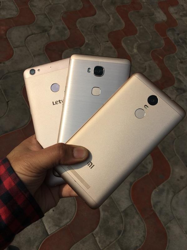 Xiaomi Redmi Note 3 vs LeEco Le 1s vs Honor 5X Comparison