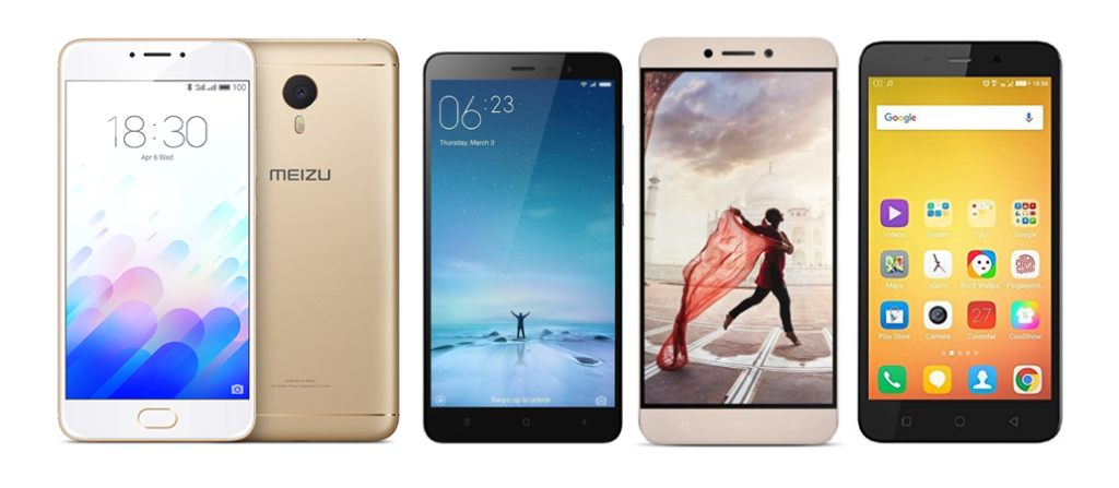Meizu m3 Note vs Xiaomi Redmi Note 3 vs LeEco Le 1s vs Coolpad Note 3