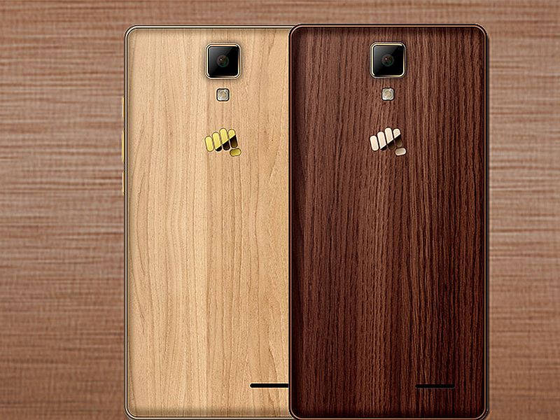 Micromax Canvas Lite Special Edition Wooden Back