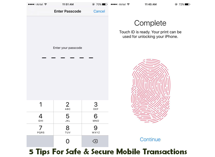 Tips for safe & secure mobile transactions