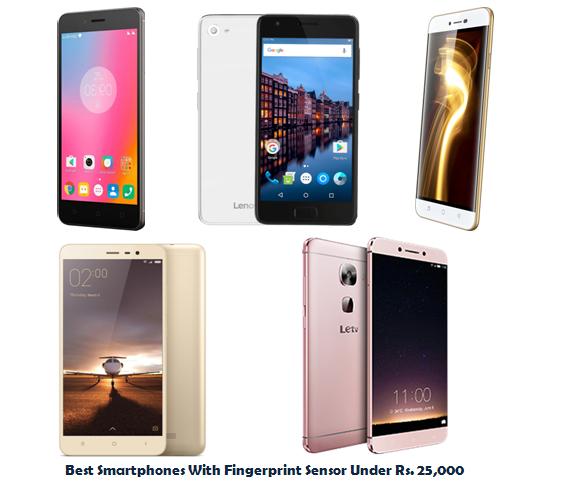Best Smartphones With Fingerprint Sensor Under Rs. 25,000
