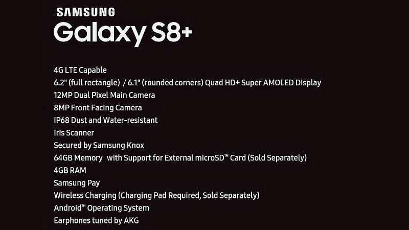 Samsung Galaxy S8+ Leaked