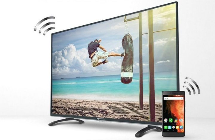 Airtel Internet TV - Micromax Canvas Smart LED TV with smartphone