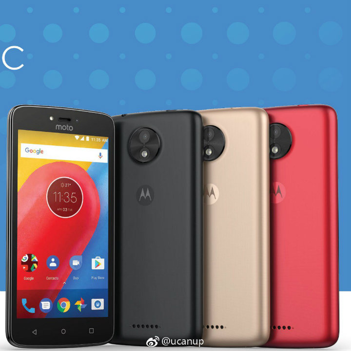 Motorola Moto C front and back