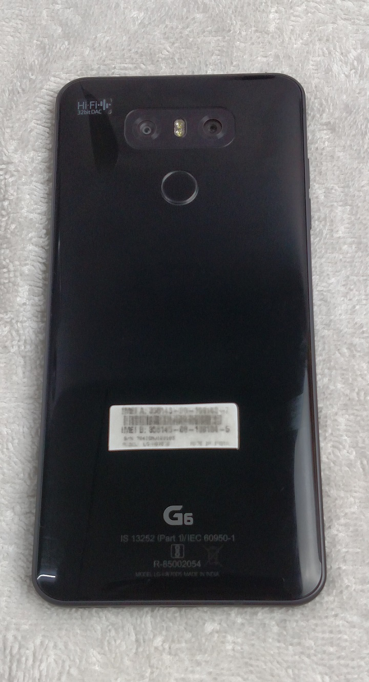LG G6 India Review - Back Panel