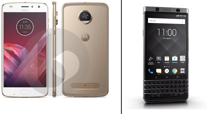 Moto Z2 Play vs BlackBerry KEYone