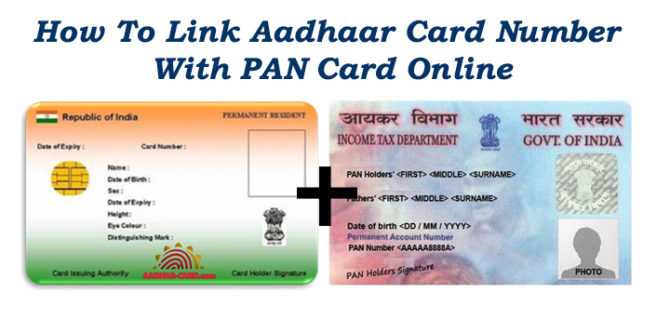 How To Link Aadhaar Card Number With PAN Card Online