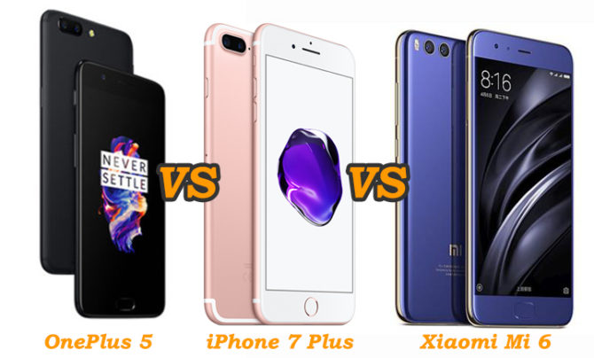 OnePlus 5 Vs iPhone 7 Plus Vs Xiaomi Mi 6