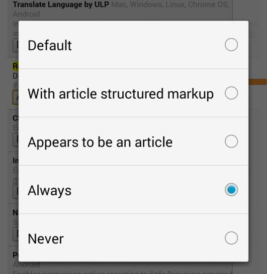 How To Enable Google Chrome's Hidden Reader Mode For Android