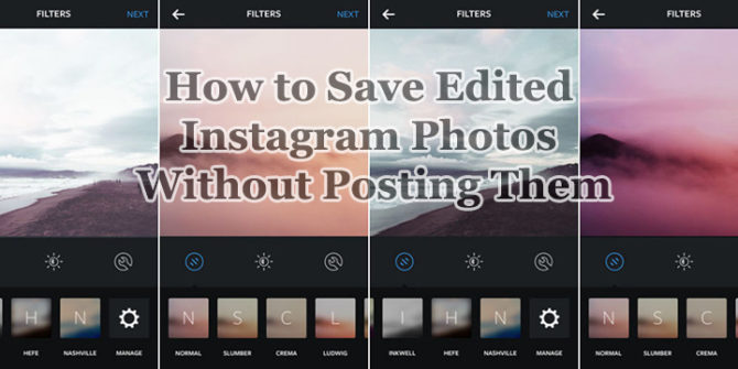 How to Save Edited Instagram Photos Without Posting Them