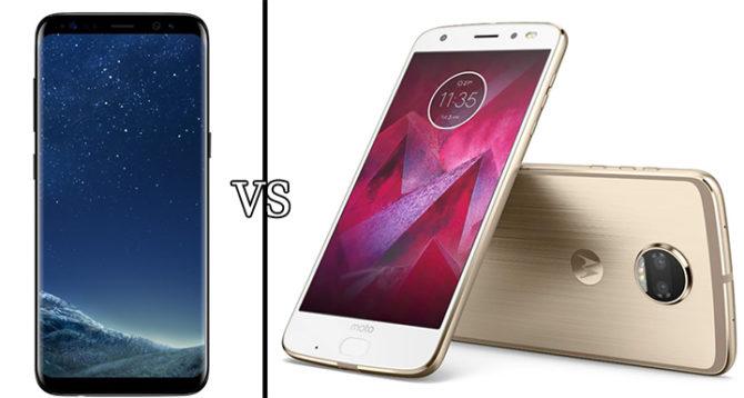 Moto Z2 Force Vs Samsung Galaxy S8