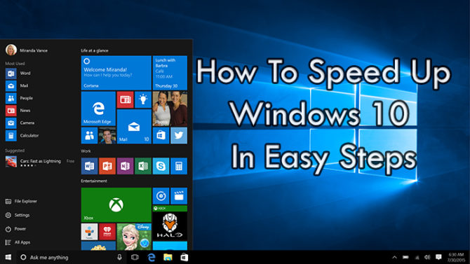 How To Speed Up Windows 10 In Easy Steps