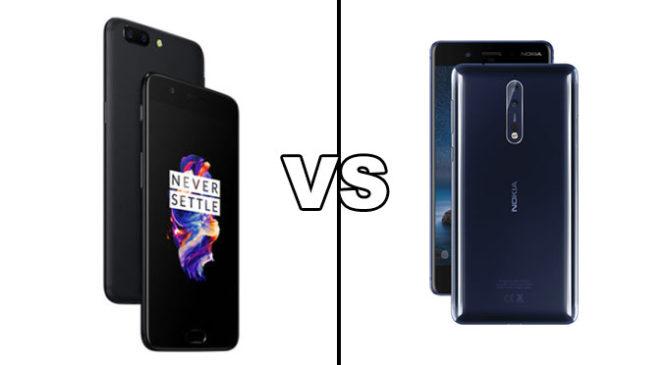 Nokia 8 Vs OnePlus 5