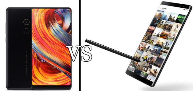 Samsung Galaxy Note 8 Vs Xiaomi Mi Mix 2