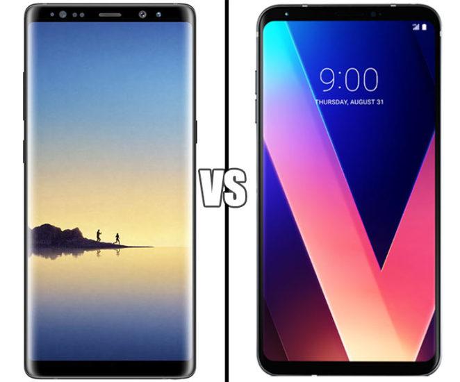 Galaxy Note 8 Vs LG V30