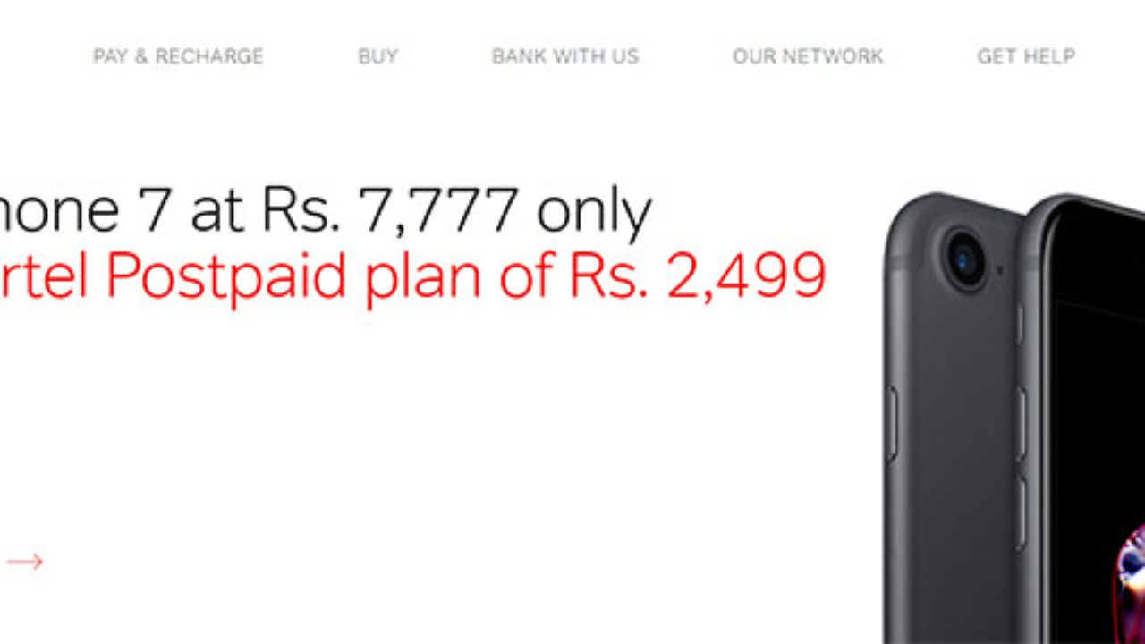 Airtel's New Online Store Is Offering Apple iPhone 7 At Rs 7,777