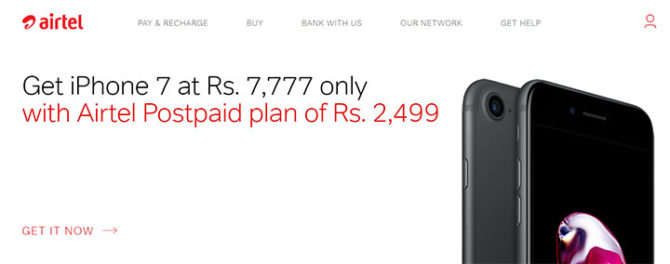 Apple iPhone 7 Airtel Online Store
