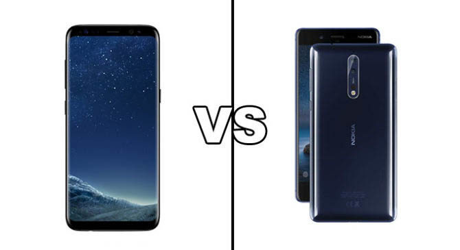 Galaxy S8 Vs Nokia 8 Comparison