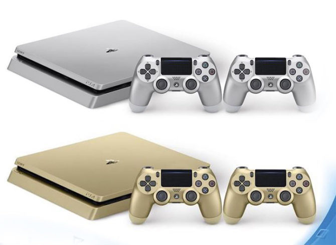 Gold and Silver PS4 Slim Limited Edition