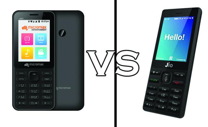 Jio Phone Vs Micromax Bharat 1