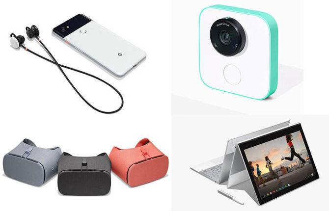 Google Pixelbook, Pixel Buds, Clips AI-Powered Camera