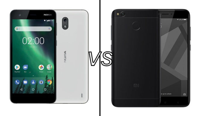 Xiaomi Redmi 4 Vs Nokia 2