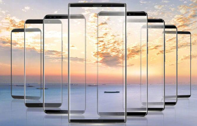 Gionee Bezel-less Smartphone Range