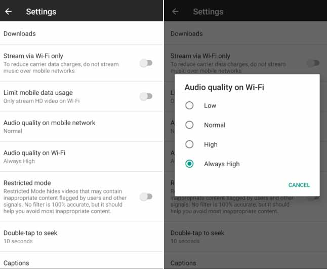 How To Control Streaming, Download Quality On YouTube Music