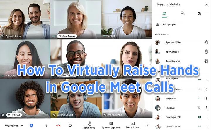 Как виртуально поднять руку в Google Meet Calls